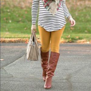 LuLaRue Mustard Leggings One Size